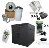 600w HPS 2.4m x 2.4m HEAVY DUTY Premium Grow Tent Kits
